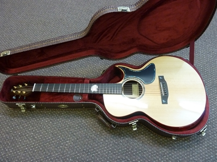 NEW Terry Pack SJRS handmade, de luxe cutaway acoustic guitar