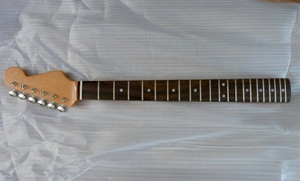 For sale, 60's style Stratocaster guitar neck, slab rosewood fingerboard, Kluson style machine heads