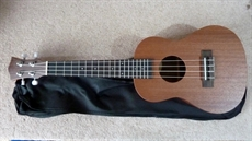 New  Concert Ukelele, mahogany, sapele back and sides, professionally set up, with carry bag