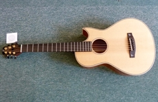 Terry Pack PLMS new model acoustic parlour guitar, all solid, with de luxe case