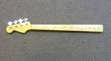 For sale, L/H left handed P Bass guitar neck, maple fingerboard, Kluson machine heads