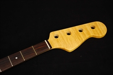 NEW flame maple 62' JB bass guitar neck, rosewood F/bd 64.5mm heel width