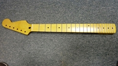 1 piece maple Strat neck, cellulose finish, cross truss rod, chunky 50's feel, professional quality